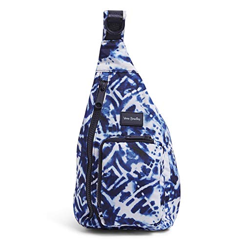 Vera Bradley Recycled Lighten Up Reactive Mini Sling Backpack, Island Tie-Dye