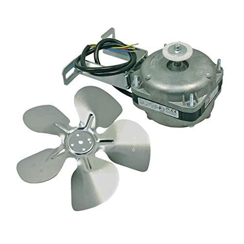 Europart 10004006 UNIVERSAL Ventilator Lüfter Fan Motor 5W 230V Ventilatorflügel Flügel 200mm mit Haltebügel für Kühlgerät Kühlschrank Gefrierschrank