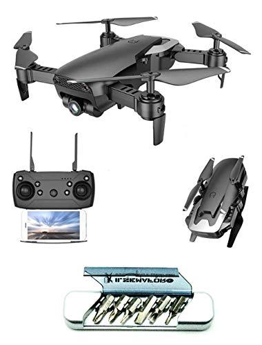 v-storm Drone Pieghevole con 2 TELECAMERE Full HD (1080P) Modello Star Tec Colore Nero Motori Brushed WiFi FPV-QUADRICOTTERO+Multitool Il SEMAFORO