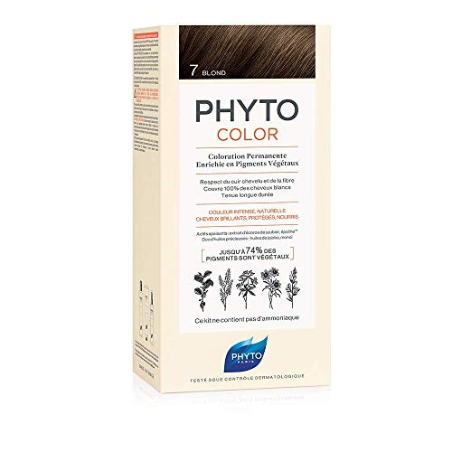 Phyto Phytocolor 7 Biondo Colorazione Permanente senza Ammoniaca, 100 % Copertura Capelli Bianchi