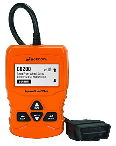 Actron CP9660 PocketScan Plus ABS/OBD II/CAN Scan Tool for 1996 and Newer Vehicles, Orange