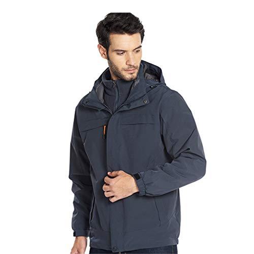 Fantastic Deal! Men Windbreaker Hooded Rain Jacket Lightweight Packable Raincoat Outdoor Camping Tra...