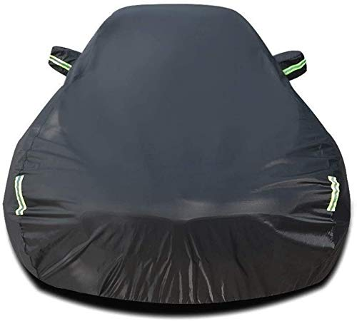XINGJU Outdoor Car Cover Compatibel met Aston Martin Vanquish Ademende Hoes Auto Cover All Weather UV-bescherming OTH winddicht Dust Pr (Color : Black, Size : 2017 Zagato Volante)