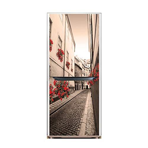 XIAOMAN Adesivi per frigo da Cucina Porta Stretta a Scomparsa HD Frigorifero Copertura Avvolgente autoadesiva Rimovibile Fai da Te Art Decal (Color : 1, Size : 60 * 180cm)