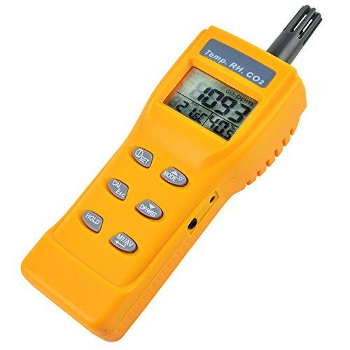 GAIN EXPRESS Indoor Air Quality 9999 ppm Digitale Kohlendioxid Temperatur Feuchte NDIR Sensor IAQ CO2-Monitor WB DP Tester