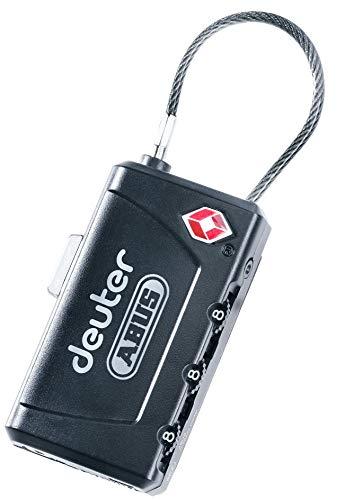 Deuter TSA Cable Lock, Lucchetto con Cavo. Unisex-Adulto, Nero, 9,6 x 1,7 x 1,3 cm