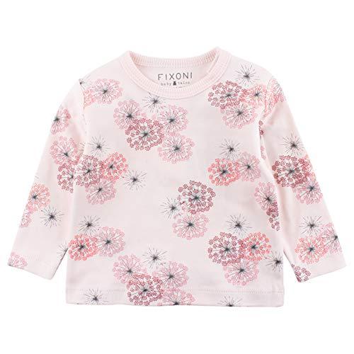 Fixoni Fixoni Baby-Mädchen INTO LS T-Shirt-Oekotex Bluse, Rosa (Soft Rose 02-10), 68