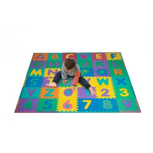 Foam Floor Alphabet and Number Puzzle Mat for Kids, 96-Piece Montana