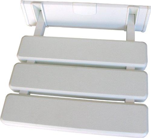 CMBath ASI01 Asiento para Ducha ABATIBLE, Aluminio/ABS, 330x330x70cm