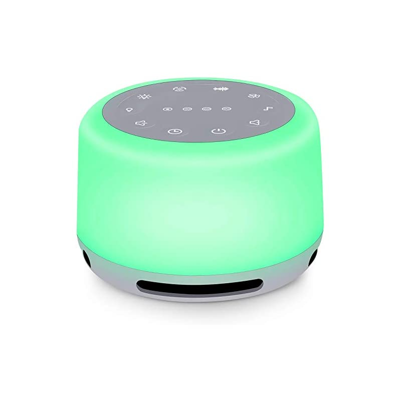 crib bedding and baby bedding sleep sound machine 24 natural soothing sounds 7 color breathing lights and night light with timer memory feature rechargeable portable white noise machine for baby kids adults