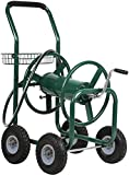 Patio Lawn Garden Hose Reel Cart with Wheels Reel Cart Tools for Outdoor Yard Water Planting Truck Heavy Duty Water Planting Gardening & Lawn Care Best Patio Lawn Garden Watering Equipment Cart, Green