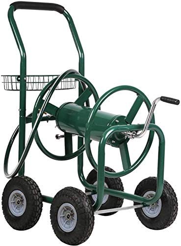 Best Patio Lawn Garden Hose Reel Cart with Wheels Reel Cart Tools for Outdoor Yard Water Planting Truck Heavy Duty Water Planting Gardening & Lawn Care Patio Lawn Garden Watering Equipment Cart, Green