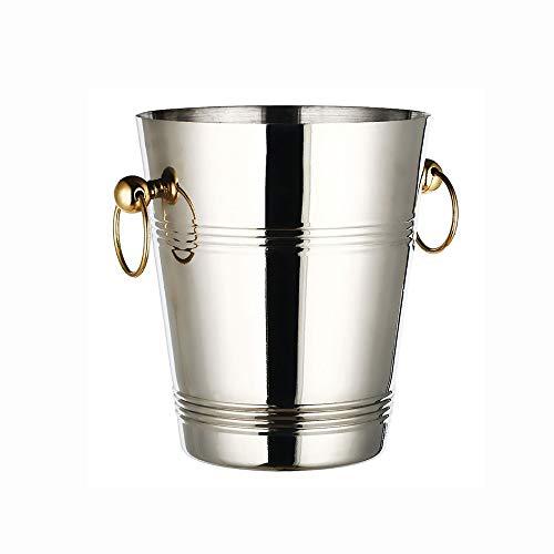 GANFANREN Engrosadas Grandes 304 de Acero Inoxidable Cubo de Hielo Champagne Bar Cubos Cubos Cocina for Guardar Vinotecas enfriadoras