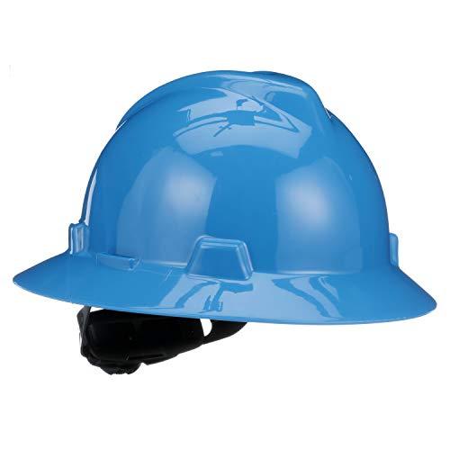 MSA  475368 Blue VGard Polyethylene Full Brim Hard Hat With Ratchet4 Point Ratchet Suspension
