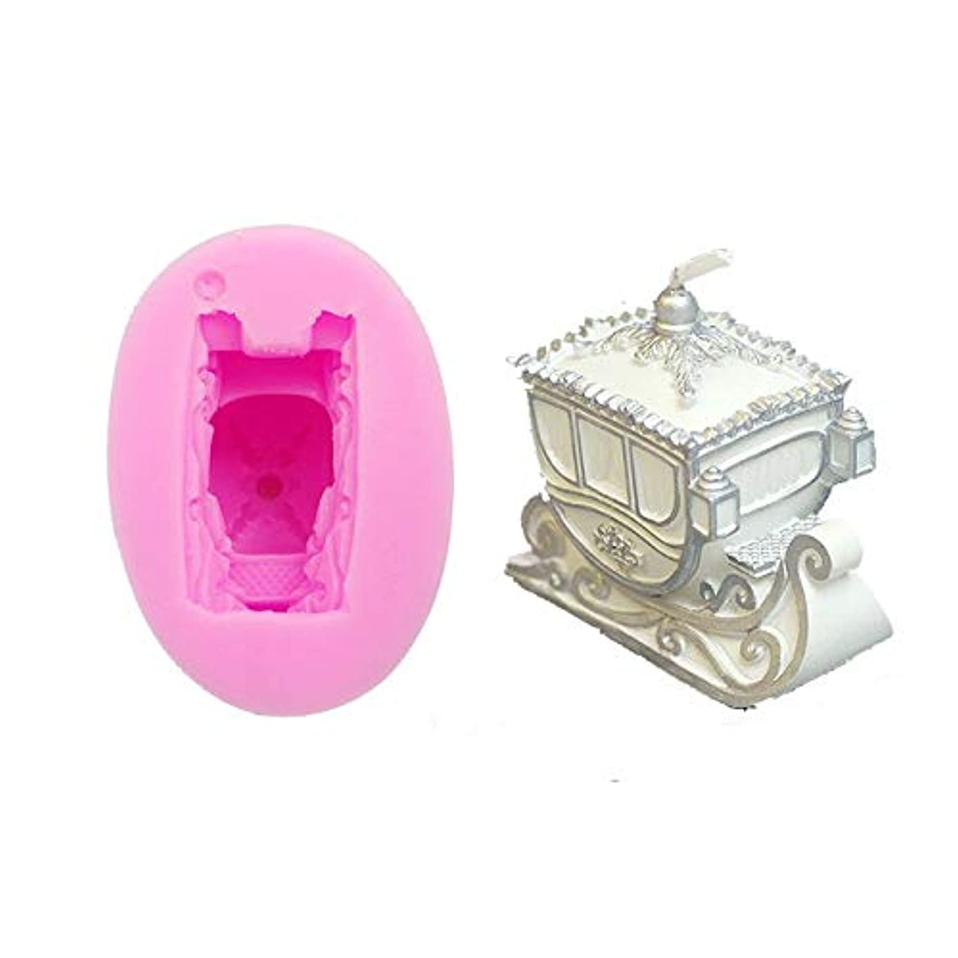 Silicon Mould - Diy 3d Christmas Sled Carriage Fondant Cake Mold Clay Candle Mould Soap Moulds - Mould Moulds Soap Molds Candle Cake Fondant Clay Extruders Mold Mould Embroidery Sequin Carr