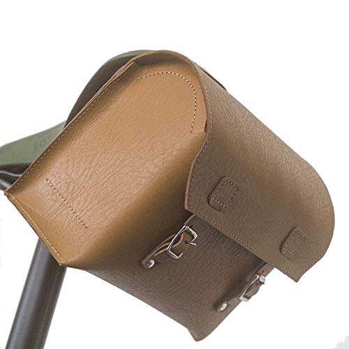 London Craftwork Bolsa grande para bicicleta de cuero genuino Saddle/manillar/Frame Bag TAN 23 x 19,5 x 11 cm XXL-TAN