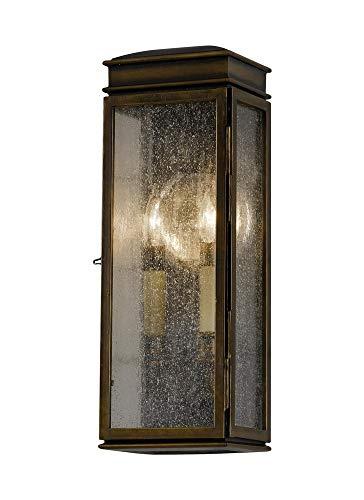 "Feiss OL7400ASTB Whitaker Outdoor Lighting Wall Pocket Sconce, Bronze, 2-Light (6""W x 17""H) 120watts"