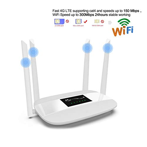 JSX 4G LTE CPE draadloze router, 300 Mbps ontgrendeld, ondersteuning simkaart 4pcs antenne met LAN-poort ondersteuning tot 32 Wifi gebruikers