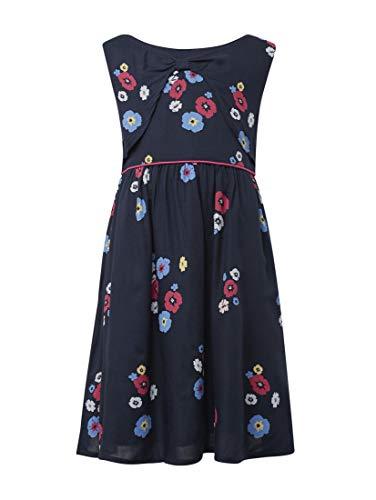 TOM TAILOR Mädchen Kleider & Jumpsuits Kleid mit Blumenmuster Black iris|Blue,104/110