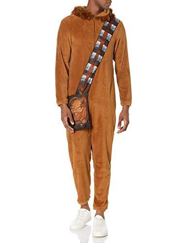 Star Wars Men's One Piece Hooded Pajama, Chewie, L