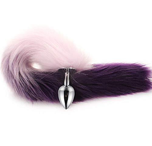 Glad haar, comfortabel en doet de huid geen pijn Long Tail Geschikt voor beginners (Top diameter: 33 mm paars) -236