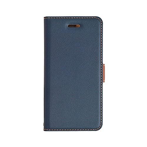 ラスタバナナ iPhone8/7/6s/6 兼用 ケース/カバー 手帳型 +COLOR 衝撃吸収 薄型 サイドマグネット NV×BR アイフォン スマホケース 3436IP7SA