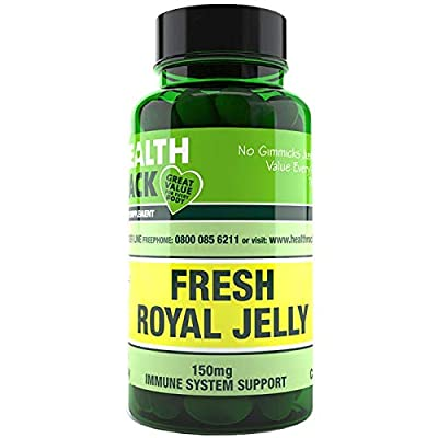 Fresh Royal Jelly 60 Capsules | Healthy Hair and Skin | Increases Energy Levels | Helps Fight The Symptoms of Hay Fever