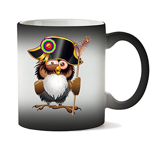 C+P Crazy Owl War Leader Animal Napoleon Bonaparte Helmet Badge Tasse Hitze Farbwechsel