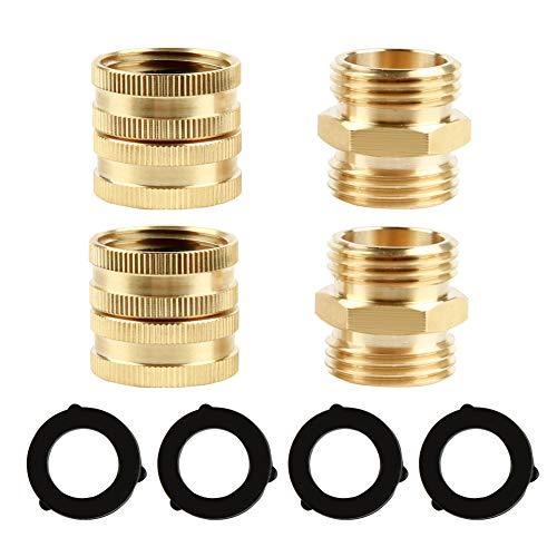 Atmozon Garden Hose Brass Adapter Set – 3/4 in.