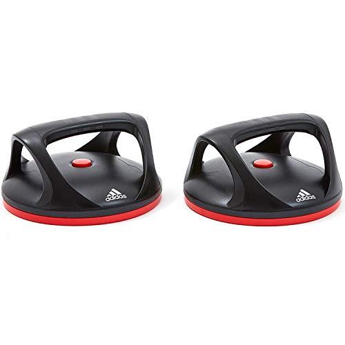 adidas Fitness Liegestützgriffe Liegest tzgriffe Swivel Push Up Bars, schwarz-rot, Einheitsgröße EU