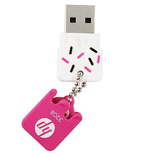 PEN DRIVE 32GB USB2.0 MINI V178P PINK, HP, FLASH_MEMORY, pacote de