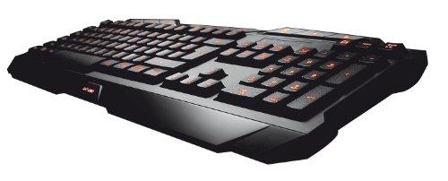 Trust GXT 280 LED Illuminated Gaming Tastatur DE schwarz (deutsches Layout, QWERTZ, beleuchtet, 8 Media-Tasten, Anti-Ghosting)