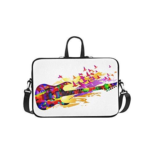 15.6″Durable Hombro Mensajero Bolsa maletín PC Música Colorida Pintura Guitarra eléctrica Moda...