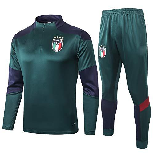 PARTAS Italien Tracksuits Football Wear Verein Uniform Langarm-Trainingsanzug Wettbewerb Anzug Herren 2 bessert Satz Italien Tracksuits (Size : M)