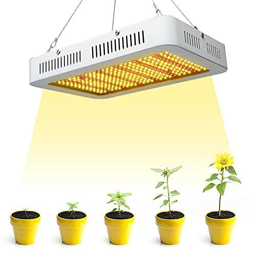 MRSGG LED-Pflanzenlichter, 1000-W-LED-Vollspektrum-Pflanzenwachstum Lampen, Sukkulenten und Gemüse füllen das Licht für Pflanzenwachstum in Innenräumen, Sämling, Blüte und Fruchtbildung