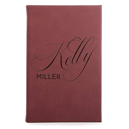 Personalized Leather Journal | Lined Pages - 7 Color | Notebook for Women, Men, Writers - Customized Journals to Write In for Women w Name, Diary for Girls - Birthday, Best Friend, Mother, Office Gift