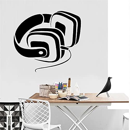 Auriculares de dibujos animados pegatinas de pared de PVC decoración del hogar decoración de la habitación de los niños pegatinas de pared calcomanías murales artísticas A2 28x30cm