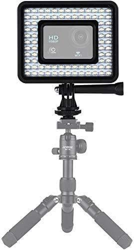 Andoer Action Camera LED ring licht dimbaar 80er parel voor GoPro Hero 4/3/3 SJCam Sport Camcorder