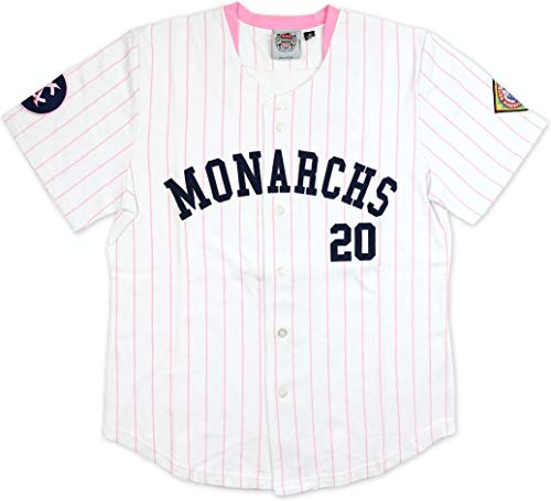 Cultural Exchange Big Boy Kansas City Monarchs NLBM Ladies Jersey [White/Pink - XL]