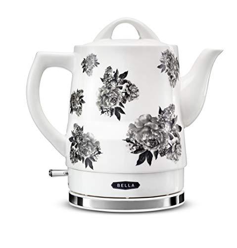 BELLA 14746 Electric Tea Kettle, 1.5 LITER, Black Floral