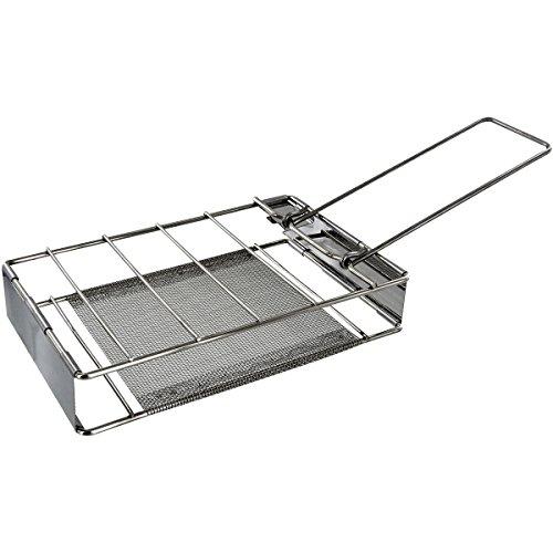 Highlander Camping-Toaster aus Edelstahl klappbar, CP116