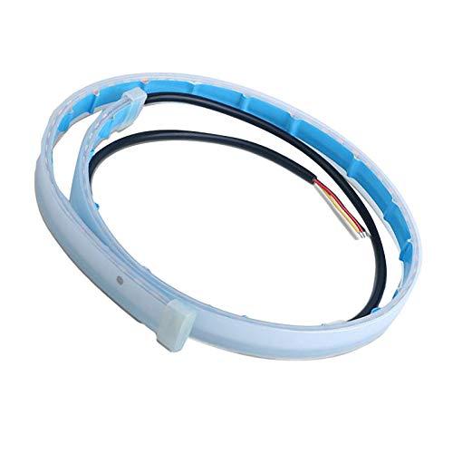 SANON 2 piezas de luz de tira led para coche drl luz de señal secuencial impermeable a prueba de luz tubo de tira de coche luz de coche luces diurnas flexibles 30 cm