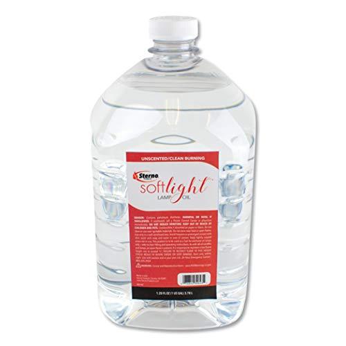 Soft Light Liquid Wax Lamp Oil, Clear, Gallon, 4 per Carton [ESS]