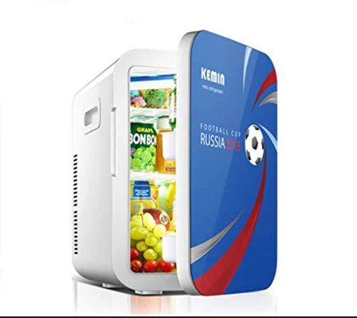 Refrigerador de coche/mini casa pequeña, dormitorio de 20 l/puerta individual, hogar y coche de doble uso (220v/12v), Dual-core Smart/18 Football
