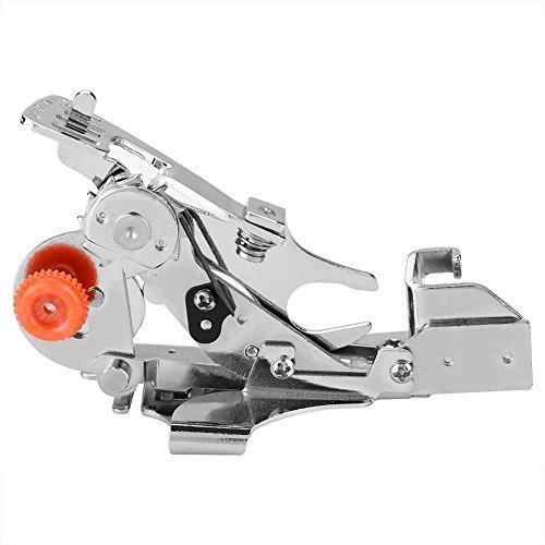 XQAQX Prensatelas para Ruffler, prensatelas para máquina de Coser, Accesorio para prensatelas de Ruffler para el hogar, Accesorios para máquinas de Coser de Mango bajo(Rosado)