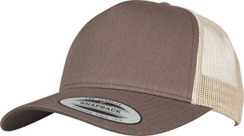 Flexfit 5-Panel Retro Trucker 2-Tone Cap Kape, BRN/Khaki, one Size