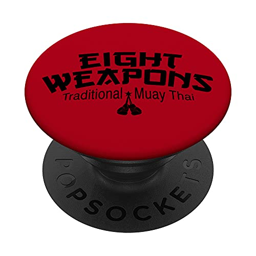 Eight Weapons Traditional Muay Thai PopSockets PopGrip: Agarre intercambiable para Teléfonos y Tabletas
