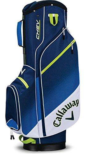 Callaway Golf 2018 Chev Cart Bag, Violet/ Teal/ White
