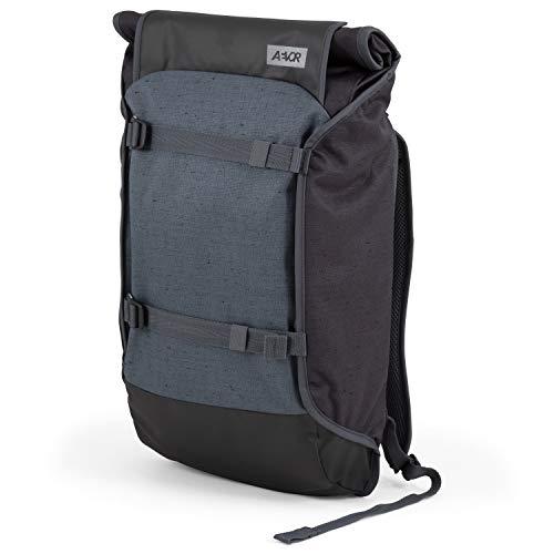 AEVOR Trip Pack - erweiterbarer Rucksack, ergonomisch, Laptopfach, wasserabweisend - Bichrome Night - Black