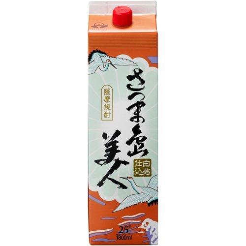 長島研醸 さつま島美人 芋 パック 25度 1800ml [5018]